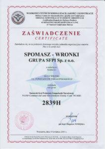 Certificate NATO-2839H