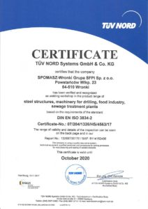 Certyfikate DIN EN ISO 3834-2