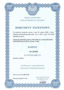 Patent Nr 227423