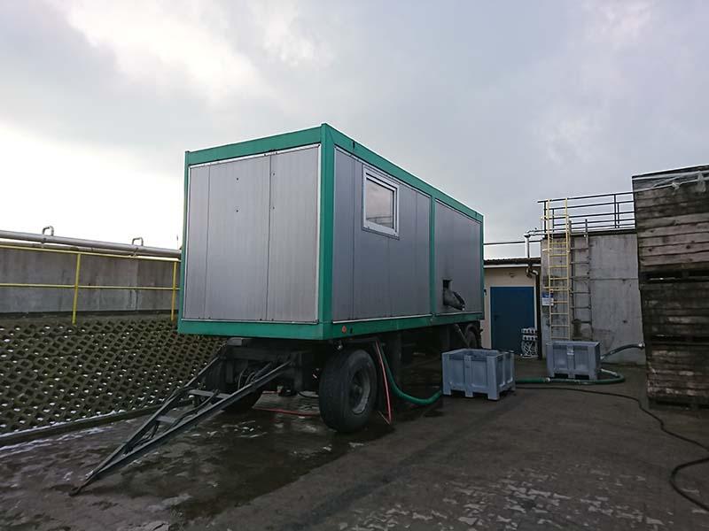 Industrial sewage sludge dewatering tests