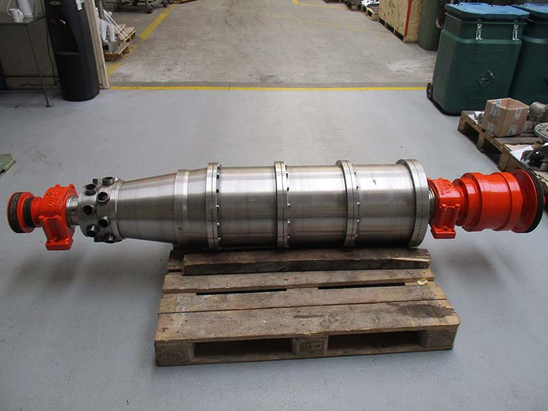 A major repair of an Alfa Laval NX4451 centrifuge rotating unit