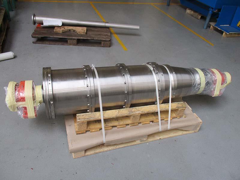 A major repair of an Alfa Laval STNX418 centrifuge rotating unit