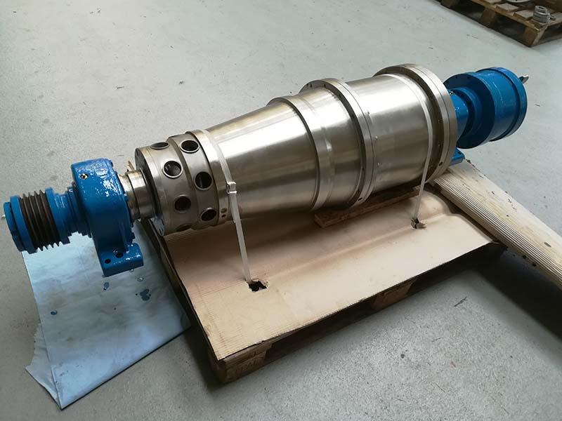 Repair of an Alfa Laval NX414 centrifuge rotating unit
