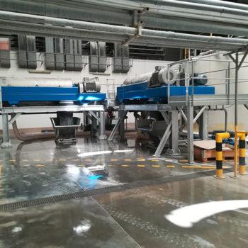 Spomasz wyprodukował 2 szt. prototypowych wirówek klasy 600 typ W3D 602 z przeznaczeniem do odwadniania osadów przemysłowych powstających w zakładach produkcji ceramiki sanitarnej.