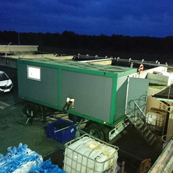 Próby odwadniania przemysłowych osadów ściekowych z wykorzystaniem stacji testowej