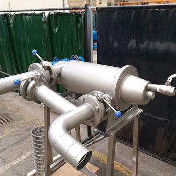 Spomasz wyprodukował już drugi filtr samooczyszczający typ FSP 03 do separacji flotującej frakcji skwarek z tłuszczu.
