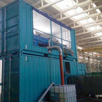 Spomasz Wronki zaprojektował i wykonał kontenerową stacje odwadniania płuczek wiertniczych.