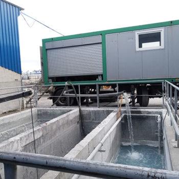 Próby odwadniania przemysłowych osadów ściekowych przeprowadzone w zakładach produkcji elementów betonowych i kostki brukowej