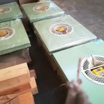Remont wentylatorów zainstalowanych na suszarce w firmie produkującej chemię gospodarczą.