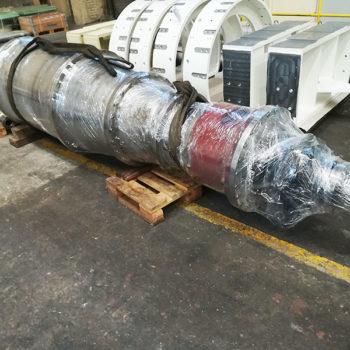 Remont zespołu wirującego do wirówki NOXON DC 30, pracującej w instalacji odwadniania komunalnych osadów ściekowych.