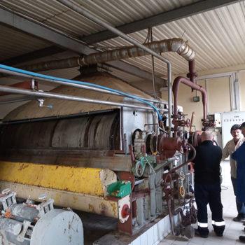 Firma Spomasz przeprowadziła próby suszenia drożdży browarniczych na suszarce walcowej.